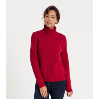 WoolOversWomens Lambswool Polo Jumper XL Red