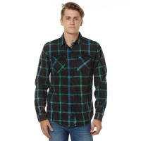 WranglerBleach Out Ls Mens Shirt Black