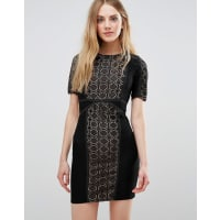WyldrWyldr Lace Dress With Contrast Lining - Black