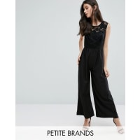 Yumi PetiteJumpsuit With Embossed Top - Black