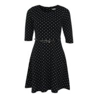 YumiSkaterdress mit Polka Dots schwarz