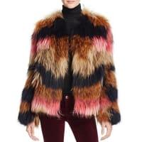 Yves SalomonMeteo by Yves Salomon Striped Fur Jacket - 100% Bloomingdales Exclusive