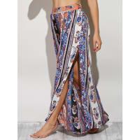 ZafulPaisley Pattern High Slit Maxi Skirt