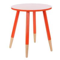 ZanuiHarley Gloss Round Side Table, Orange