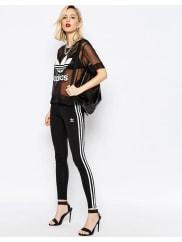 adidasOriginals Adicolour Leggings With 3 Stripe - Black