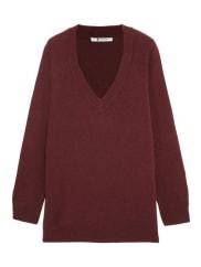 Alexander WangOversized-pullover Aus Einer Woll-kaschmirmischung - Bordeaux