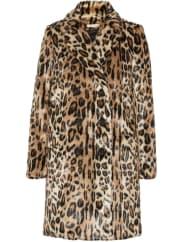 Alice & OliviaMontana Mantel aus Faux Fur mit Leopardenprint