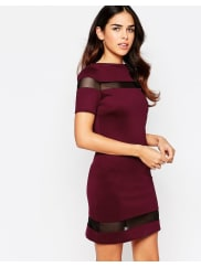Amy ChildsSuki Shift Dress with Mesh Inserts - Purple