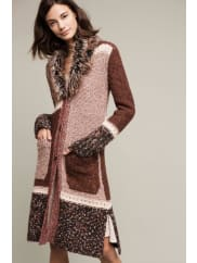 Angel of the NorthSitka Longline Cardigan, Red