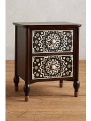 AnthropologieTapestry Inlay Bedside Table