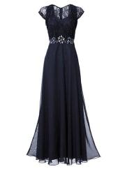Ashley Brooke by HeineDamen Abendkleid Spitze blau Für festliche Anlässe