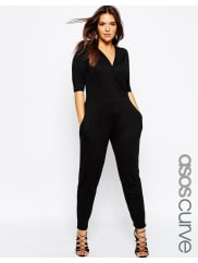 Asos CurveWrap Jumpsuit with 3/4 Sleeve