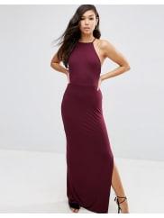 AsosHalter Strappy Back Maxi Dress