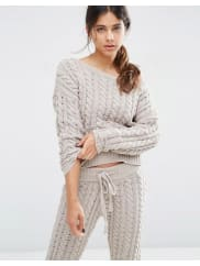 AsosLounge Cable Jumper in Chenille