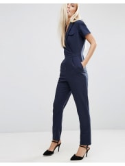 AsosWrap Jumpsuit With Pocket and Short Sleeve