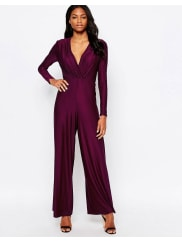 AX PARISWide Leg Jumpsit - Purple