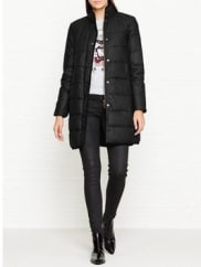 BarbourWax Baffle Quilted Coat - Black, Size 14