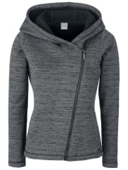 BenchBonded Asymmetric Zip Veste à Capuche Femme gris chiné