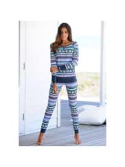 BenchNU 15% KORTING: pyjama met veelkleurig Noors dessin