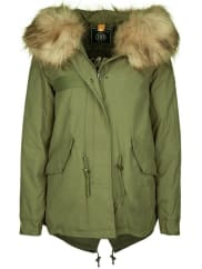 BLONDE No.8Parka »ZÜRS FAKE FUR«, grün, new khaki