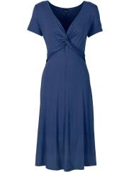 BodyflirtShirtkleid/Sommerkleid kurzer Arm in blau (V-Ausschnitt) von bonprix
