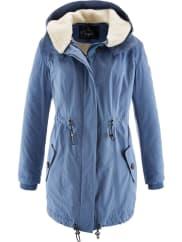 BonprixDames winterjas lange mouw in blauw - bpc bonprix collection