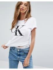 Calvin KleinT-shirt con logo - Bianco