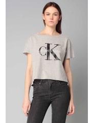 Calvin KleinKurzarm Tops - j2ij202093square cut tee - Grau