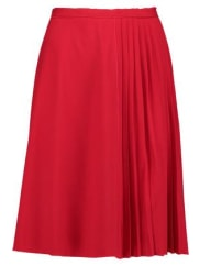 CarvenPlissé-crepe Skirt - Red