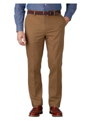 CHARLES TYRWHITTCamel slim fit flat front non-iron chinos