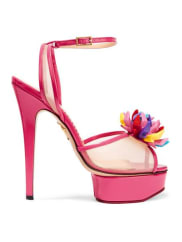 Charlotte Olympia+ Barbie Pomeline Sandalen Aus Lackleder Und Mesh - Pink