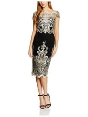 Chi Chi LondonDamen Kleid Embroidered Cap Sleeve Bodycon