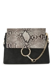 ChloéFaye Limited-Edition Leather And Suede Shoulder Bag