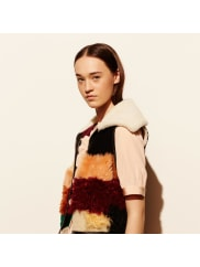 CoachPatchwork Shearling Vest