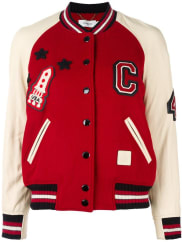 Coachvarsity bomber jacket, Womens, Size: 6, Red