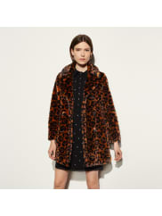 CoachWild Beast Faux Fur Coat