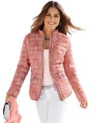 Création LSteppjacke in leicht marmoriertem Print, rosa, rosé-bedruckt