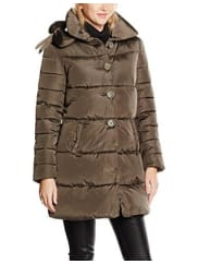 DerhyW680022, Abrigo Para Mujer, Marrón (Kaki), 42 (talla del fabricante: L)