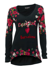DesigualV-shirt, Damen, schwarz