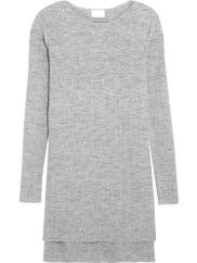 DKNYGerippter Pullover Aus Einer Baumwollmischung - Grau