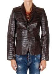 Dsquared2Alligator Leather Jacket Herbst/Winter