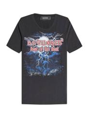 Dsquared2Bedrucktes T-Shirt aus Baumwolle