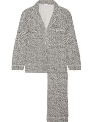 EberjeySleep Chic Leopard-print Jersey Pajama Set - Gray