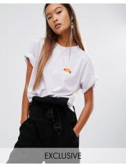 EllesseT-shirt boyfriend oversize avec logo délavé - Violet