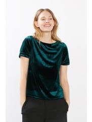 EspritBluse aus edlem Stretch-Samt für Damen Dark Green