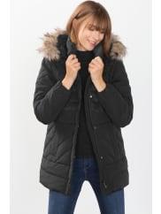 EspritDonzen jas met afritsbare capuchon Black for Women