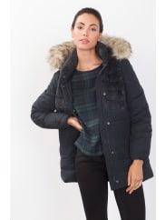 EspritDaunen-Jacke mit Zipp-off-Kapuze für Damen Navy