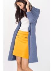 EspritMelierter Mantel aus Baumwoll-Stretch-Mix für Damen Light Grey