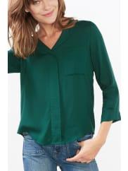 EspritSchimmernde Bluse mit Webmuster für Damen Dark Teal Green