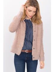 EspritSchlaufenstrick-Cardigan mit Wolle für Damen Nude